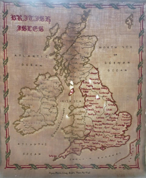 Agnes Martha Lisney 1879: Original Map Sampler
