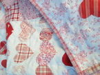 100 hearts patchwork quilt in red 2